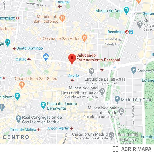 Localización Saludando Gran Vía Madrid