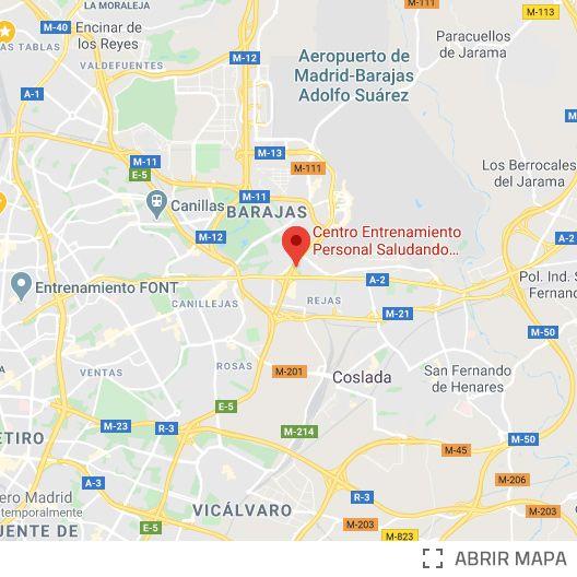 Localización Saludando Hilton Barajas Madrid